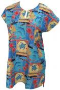 La Leela Multicolor Tropical Hawaiian Printed Beach Swim Cover up