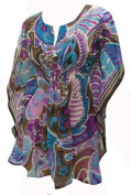 La Leela Multicolor Allover Printed Beach Swim Kaftan