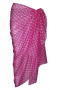Pink Cotton Sarong with Polka Dot Design