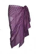 Violet Cotton Sarong with Polka Dot Design