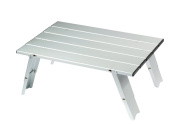 Grand Canyon Micro Small Foldable Camping Table - Silver, 30 x 40 x 15 cm