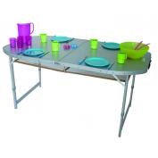 EUROTRAIL Aluminium Folding table, Crouzet folding table