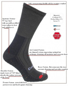NEW GENERATION! eXPANSIVE OUTDOOR LIGHT HIKING SOCKS Coolmax Absorbing System Charcoal 090/02 size UK 9-12