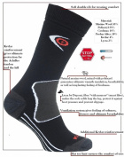 eXPANSIVE TREKKING PROTECT SOCKS Kevlar BLACK 039/01 size UK 9-12 (EUR 43-46) Merino Wool Coolmax