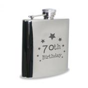 70th Birthday Hipflask