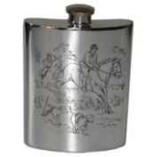 180ml Hunting Pewter Flask