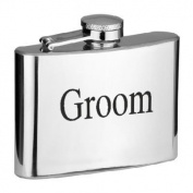120ml Groom Hip Flask (XSSHF7)