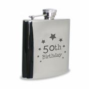 50th Birthday Hipflask