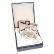 Plain 180ml Stainless Steel Hip Flask in Gift Box