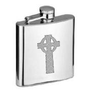 Celtic Cross Design 180ml Stainless Steel Hip Flask