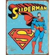 Superman Distressed Retro Vintage Tin Sign - 32x41 cm