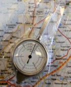 Model 202 Traditional Metal Map Measure for Miles and Kilometres, with Handle