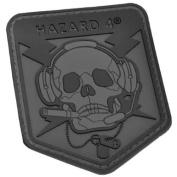 Hazard 4 Tactical Operator Skull Badge Military Combat Morale hook and loop Patch Black