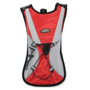 Red Hydration Pack Water Rucksack Backpack Cycling Bladder Bag Hiking Climbing Pouch