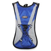 Blue Hydration Pack Water Rucksack Backpack Cycling Bladder Bag Hiking Climbing Pouch