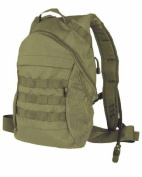 Tactical Day Pack Combat Hydration Backpack Water Bladder MOLLE Airsoft Hiking Olive