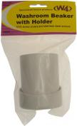 W4 Washroom Beaker & Holder - White