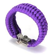 Adjustable Buckle Paracord Survival Parachute Cord Bracelet Buckle Whistle New