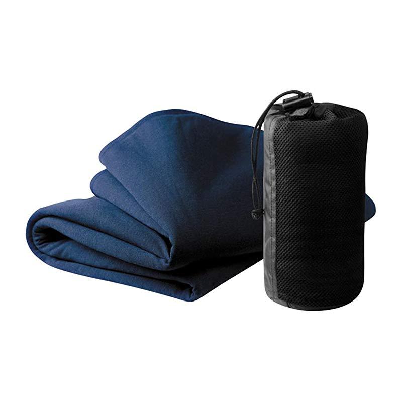 Cocoon Travel Blanket Merino Wool//Silk blue 2019