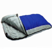 Redstone SINGLE and DOUBLE Large Sleeping Bag - Warm 400gsm Fill - Season 3 Adult - Double Converts to 2 Singles