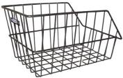 Adie Large Rear Black Wire Cycle Basket + Brackets