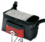 Amaro 7009 Handlebar Bag - ca. 28.5 x 17.0 x 15.0 cm, Red/Black