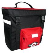 Amaro Bike Bag - 33 x 31 x 16 cm, Black/Red