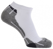 Horizon Technical Sport Trainer Socks - White/Grey/Charcoal, Size 31/2-7