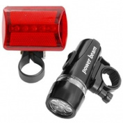 LED Bike Bicycle Head Light+ Rear Flashlight Waterproof