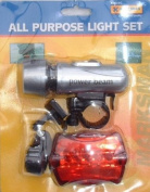 BICYCLE CYCLE LED LIGHT SET FRONT & REAR