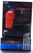Smart 7 Lux Front Light with 7 LED Rear Bike Lights - Black,
