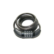 Master Lock 1200x8mm combi self coiling Cable Lock Black