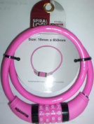 10MM X 650MM PINK BIKE BICYCLE LOCK RESETTABLE 4 DIGIT COMBINATION