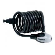 Masterlock Quantum Keyed Self-Coiling Braided Steel Cable Bike Lock - Black, 1800x12mm