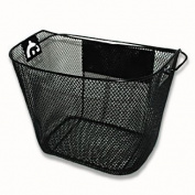 Detachable Bicycle Basket with Quick Release / Black Metal Bike Basket with Handle, Bicycle Gear, BE-20154