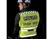 Polite High Vis Reflective Yellow Adjustable Cycle / Motorbike Tabard