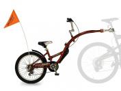 WeeRide Pro Pilot Aluminium Tagalong 6 Speed Child Tag along bike - Red, 50cm