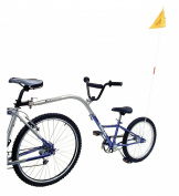 Barracuda Trail Buddy 1 Single Speed Folding Tow Bike - Blue, 50cm