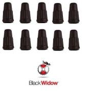 10 x Black Widow Presta Valve Caps