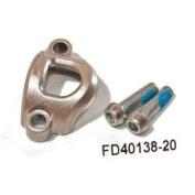 Formula RX Master Cylinder Clamp and Screws, Silver, Right