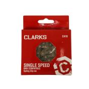 Clarks Single Speed Chain 1.3cm x0.3cm x112 Links Comp BMX Freestyle Fixed Gear & Track Spring Clip Inc