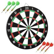 46cm Dartboard & 6 Plastic Darts