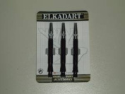 BLACK / SILVER ELKADART ALUMINIUM 3 DART SHAFTS - SUPER SPIN ROTATES 360 - 0763**