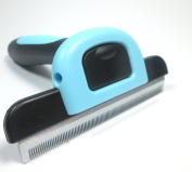 Dappa Deluxe Grooming and Deshedding Rake Comb Tool For Large Dogs and HorsesBLUE