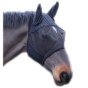Full Face Mesh Fly Mask With Ears - Fleece Padded, Sizes