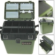 Silver Bullet Trading Fishing Tackle Seat Box Includes Padded Strap & Seat Pad Very Strong Freepost