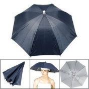Navy Blue Fishing Outdoor Sports Polyester Umbrella Hat