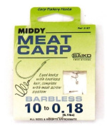 Middy Hooks To Nylon Meat Carp - Barbless