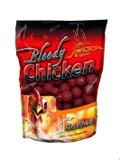 Quantum 16mm Radical Boilie Bloody Chicken - Red/Brown, 1 Kg