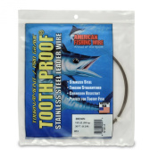 American Fishing Wire Tooth Proof Stainless Steel Single Strand Leader Wire Size Colour, Pound Test,